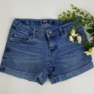 LEVI'S cuffed jean shorts size 12 R